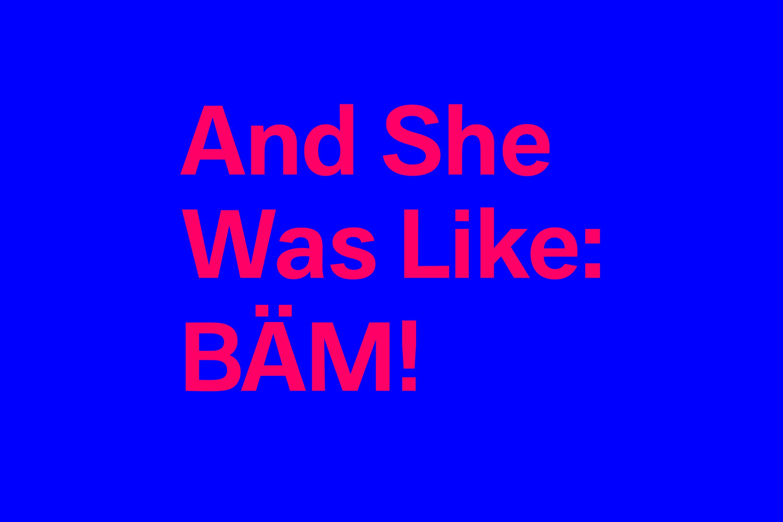 YVONNE RUNDIO And She Was Like BÄM – Corporate Design Logo