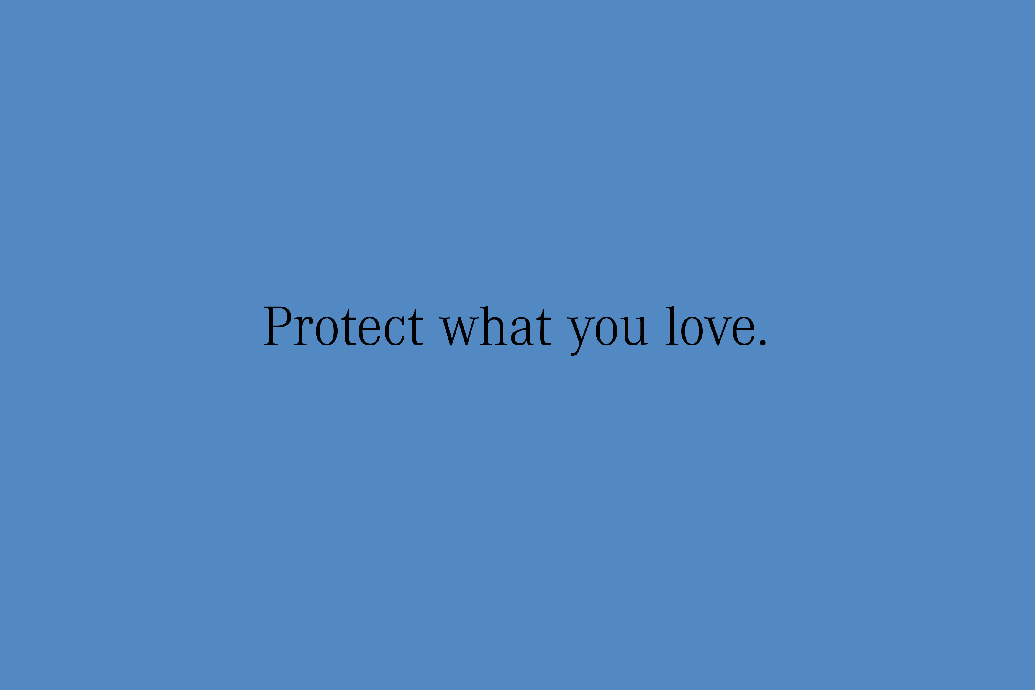 YVONNE RUNDIO BIRU BIRU Protect what you love