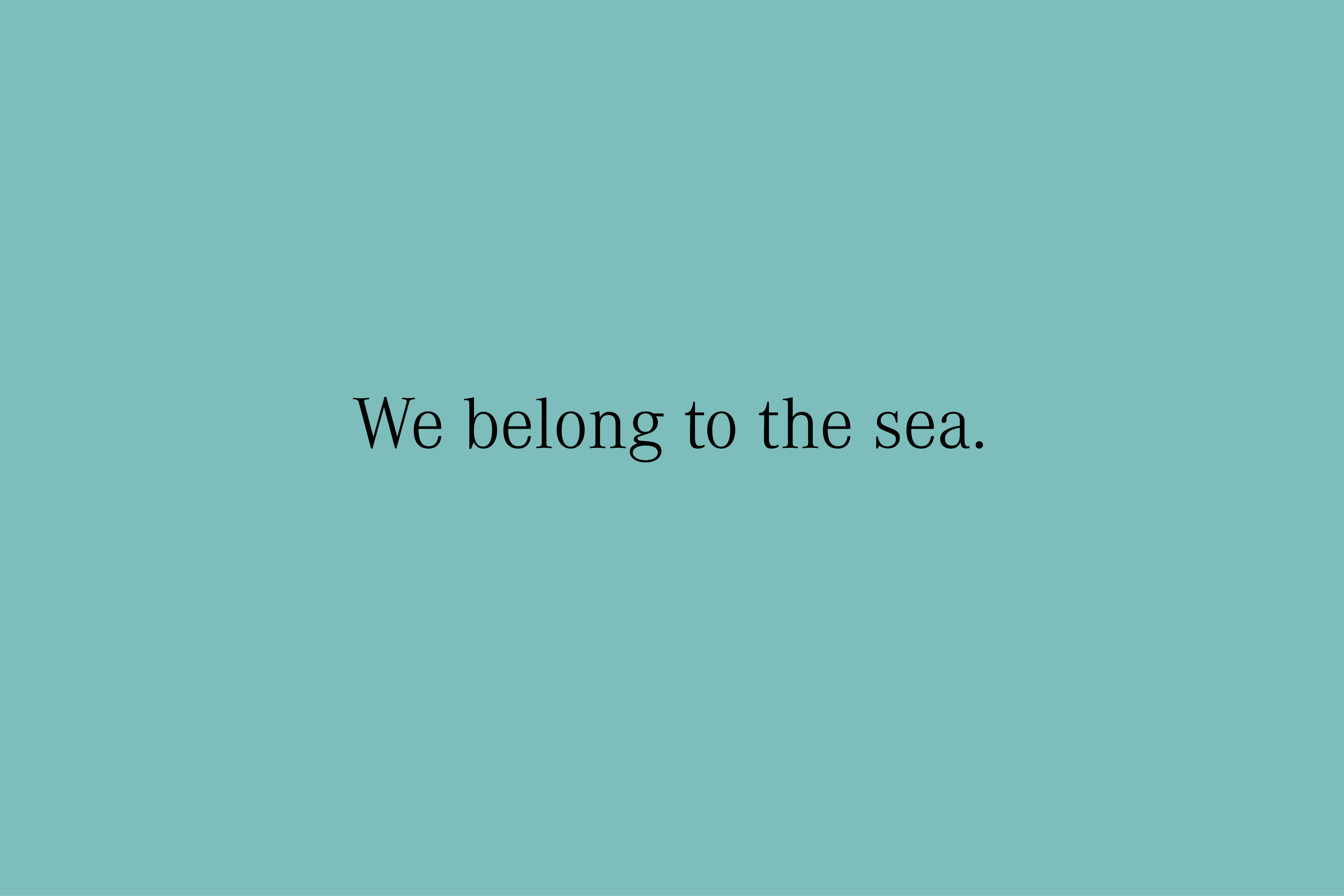 YVONNE RUNDIO BIRU BIRU We belong to the sea
