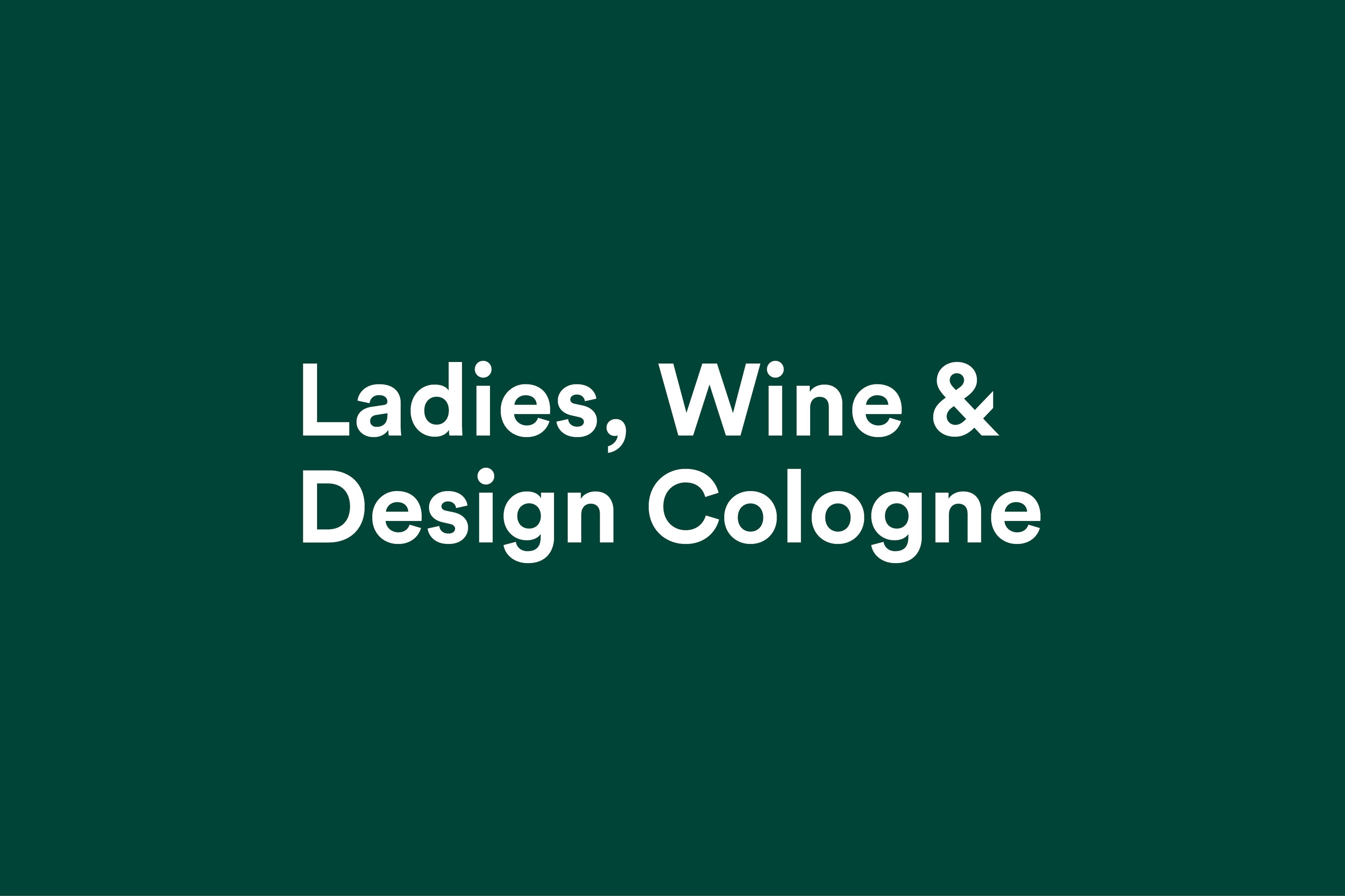 YVONNE RUNDIO Ladies Wine Design Cologne