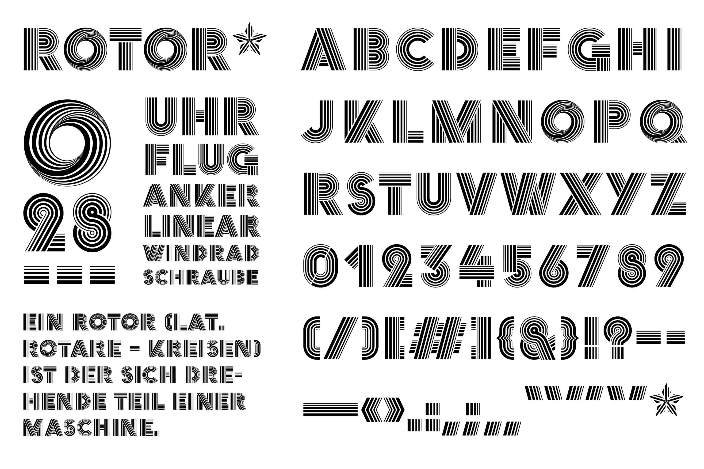 YVONNE RUNDIO Rotor Schrift